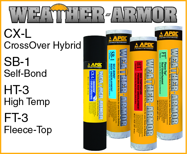 Apoc Roofing Supplies & APOC Underlayment Group - Weather
